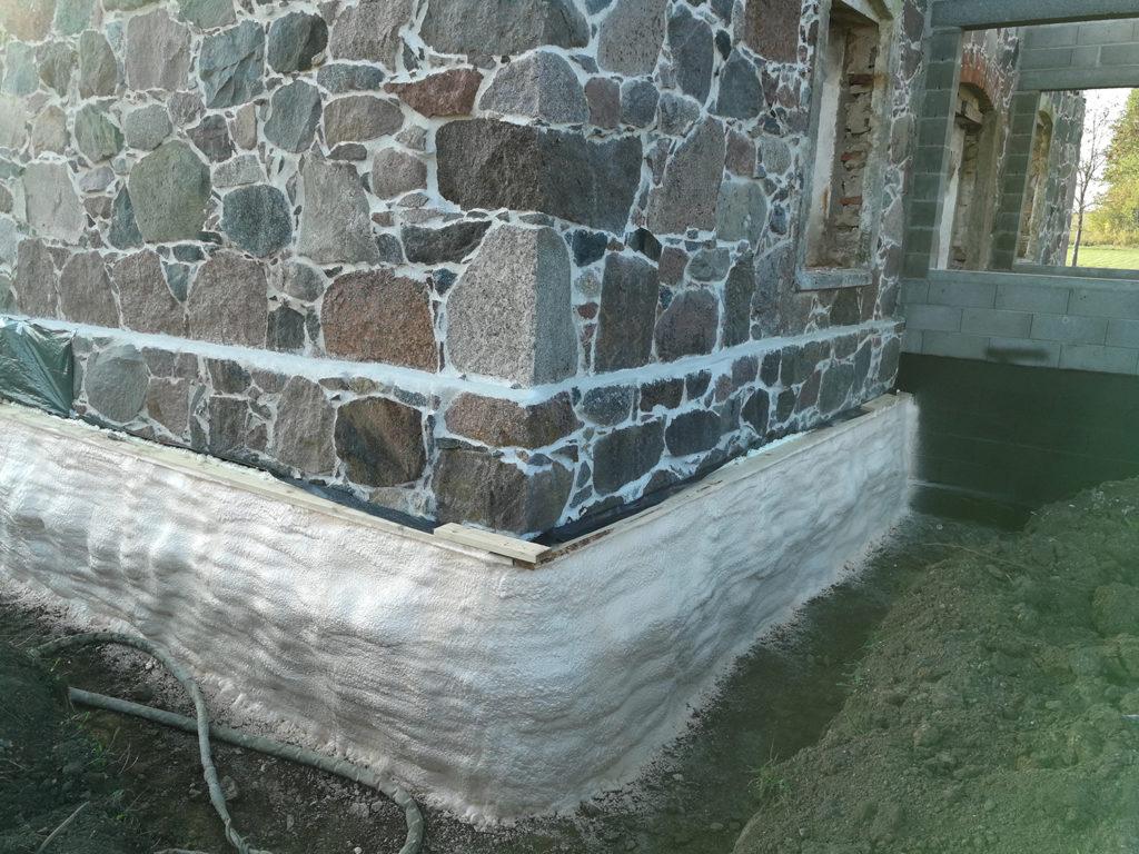 vundamendi soojustus suletud pooridega pur vaht